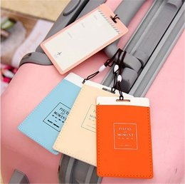 Wholesale New Luggage Tags Travel Paper Suitcase Tags Carrying case Tag bag Wrap Easily recognizable Bag Parts With The lanyard luggage label