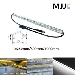 Wholesale 25CM CM CM V DC Cool White Waterproof Under Cabinet Rigid Strip LED Bar Light with M Adhesive Tape Aluminium Profile