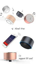 Wholesale A10 bluetooth speakers Fashion Modern Aluminum Alloy Cylinder Wireless Calls Handsfree TF Card Music Bass Subwoofer Stereo DHL