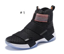 Wholesale Soldier Men basketball shoes black new Lebron Soldier Sneakers lbj X elite Sports Shoes US7 US12