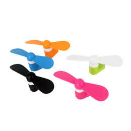Wholesale Portable USB Mini Fan For iPhone s s s plus S3 S4 S5 Note Micro USB Mobile Phone
