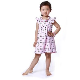 Girls Boutique Dress ,Ruffle Sleeve girls Baby clothes ,Summer Arrow Printed Children dress,Arrow Printed Smock dress for kids