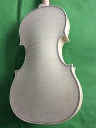 4 4 violin Guarneri model 1742 in white unvarnished instrument