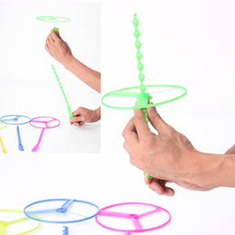 Wholesale Lowest price helicopter flying toys Hand push flying saucer and frisbee Hand rotation outdoor toys for Children s Day kids toys