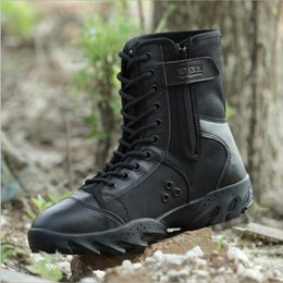 Wholesale 2017 America Sport Army Men s Tactical Boots Desert Outdoor Hiking leather Boots Military Enthusiasts Marine Male Combat Shoes