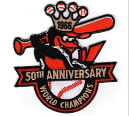 Wholesale BALTIMORE ORIOLES PATCH TH ANNIVERSARY WORLD SERIES CHAMPION ARM EMBLEM