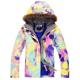 Wholesale Gsou Snow K K breathable waterproof snow sports clothing jacket women warm cotton skiing jacket women