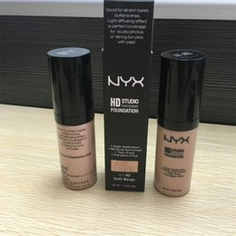 Wholesale NYX HD Studio Photogenic Foundation high definition Mineral enriched talc free paraben free nyx liquid foundation colors high quality