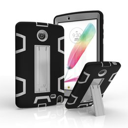 Wholesale 3 IN Dual Colors Hybrid Heavy Duty Robot Rubber Cases Kickstand Shockproof Cover for LG G Pad2 V495 V496 V498