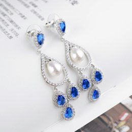 Wholesale Allen fashion personality cocoa long drop earring earrings manufacturers Long cm