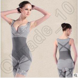 Wholesale Slimming Bamboo High Quality - 100pcs CCA4145 High Quality 3 Designs Slim Corset Slimming Suits Bodysuit Shapewear Bamboo Charcoal Sculpting Underwear Women's Body Shaper