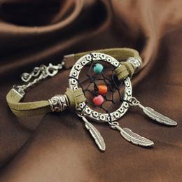 Wholesale 2016 Vintage Enchanted Forest Mini Dreamcatcher Bracelet Handmade Dream Catcher Net Jewelry Decoration Ornament Diameter cm