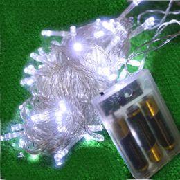 Wholesale 10m BATTERY light 80 LED MINI FAIRY STRING LIGHTS colourful LED BATTERY String Fairy Light Christmas Wedding 10 pieces lot