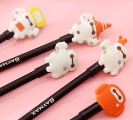Korea Cartoon Creative Big White Hero Doll series gel pen 0.5mm Black funny gift Free shipping Wholesale