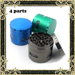 Wholesale Metal Grinders mm Grinder Parts Grinder Zinc Alloy Matetial With Side Window Colors Fast Shipping