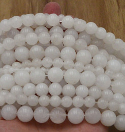 Wholesale 16 high quality Natural Gemstone White marble Round Spacer Loose Beads mm mm mm mm mm Bracelet necklace