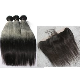 Wholesale lace Frontal Closures With three Bundles Brazilian Peruvian Indian Mongolian hair weaves closures free style lace closures