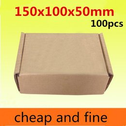 150x100x50mm 100pcs High quality wholesale kraft paper boxes  Thicken three floor corrugated kraft paper packaging phone gaines