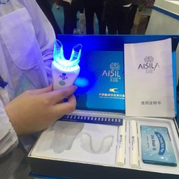 Wholesale 2016 Hot New Professional Oral Hygiene Dental Bleaching Set Aisila Teeth Whitening Kit Removing Teeth Stains Cold blue light Teeth White Set