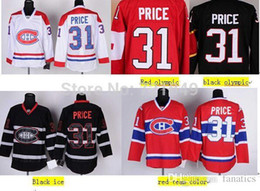 Wholesale 2016 Good Customer reviews Jersey Montreal Canadiens Carey Price black ice white Home Red CCM Sewn Stitched Ice H