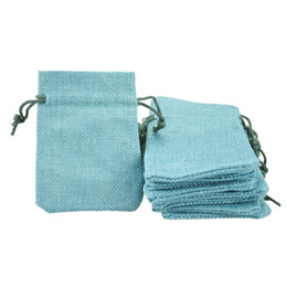 7x9cm Faux Jute Drawstring Jewelry Bags Small Pouches Burlap Blank Linen Fabric Gift packaging bags Stylish Reusable