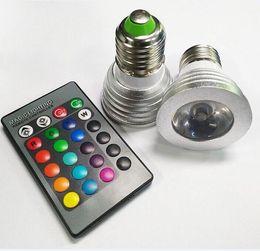 3W LED lights 16 Color Changing 3W LED Spotlights RGB led Light Bulb Lamp E27 GU10 E14 MR16 GU5.3 with 24 Key Remote Control 85-265V & 12V