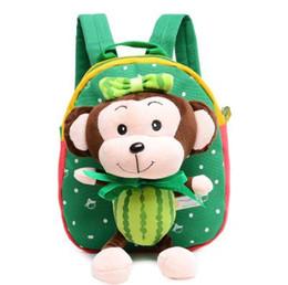 Wholesale Baby Diaper Cartoon Monkey Girl Boy Canvas Travel Brand Kid Feeding Food Storage Bags Mom Mother Plush Maternity Nappy Children Bags S1118