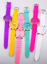 Top-selling silicone watch Foreign trade new GENEVA silicone watch electronic quartz watches wholesale new three no drilling Geneva watch