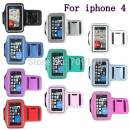 Wholesale For iPhone Adjustment Belt Running Sport Armband Case For iPhone S Outdoor Waterproof Mobile Phone Arm Band Pouch