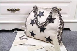 Free Shipping! White&Black Women's Genuine Leather Star Small 3 Chain Tote Cross Body Shoulder Bags