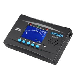 Wholesale ammoon AMT in Electronic Digital Tuner Metronome Tone Generator Clip on Mic Tuning LCD Screen for Chromatic Guitar