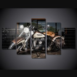 Wholesale 5 Set No Framed HD Printed Motorcycle Pictures Painting Canvas Print room decor print poster picture canvas ny