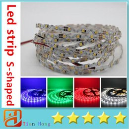Wholesale 2016 NEW Led Strips S shaped Bend Freely smd2835 Led Light Strips V m LEDs Non Waterproof For Channel Letter Box Signs Lighting