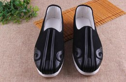 Wholesale Casual Men Flat Shoes Old Beijing Shoes Chinese Kungfu Canves Shoes Good Quality And Comfortable For Summer