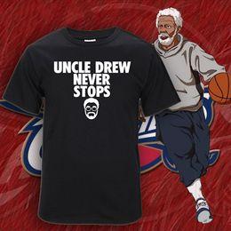 Wholesale Uncle Drew Fashion Summer Men T shirts Cotton Comfortable Printed Casual T Shirts Men Short Sleeve Men Clothing