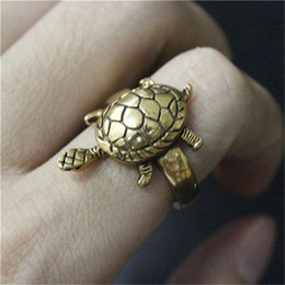 5pcs lot Wholesale Golden Cute Animal Tortoise Ring 316L Stainless Steel Fashion Jewelry Top Quality Tortoise Ring