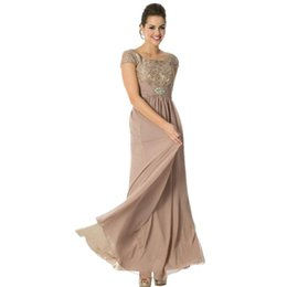 Wholesale Evening Dresses with Short sleeve Collar To the ground skirt Prom Dresses Mother of the Bride Dress Evening Gowns mother bride dresses
