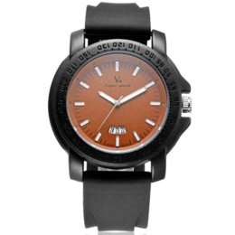 Acheter en ligne La montre-bracelet pour hommes-2016 nouveau fashin V6 marque design classique homme homme horloge armée cool sport cuir militaire poignet quartz affaires cadeau montre B001