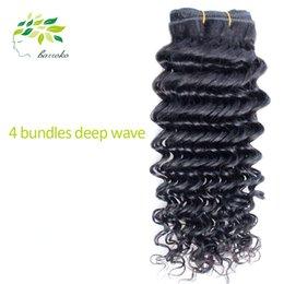 Promotion 24 profonds faisceaux de cheveux bouclés Grossiste Brazillian Hair Weave Deep Curly Virgin Remy Produits Cheveux Brésilien Hair Bundles Deep Wave cheveux Weave ondulé cheveux humains
