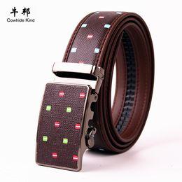 Compra Online Cinturones de cuero-2016 Mens caliente Cinturones de diseño de la correa de cuero de los hombres Marca Smooth hebilla de la correa de los pantalones de negocios Banda Ceinture Cinturones Mujer