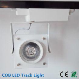Wholesale 20W W LED COB Track Light Black add White Shell led spot track lighting high quality AC85 V