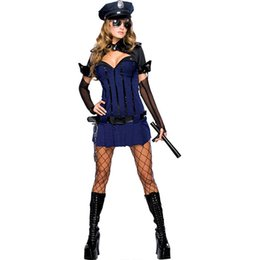 Wholesale Night Watch Police Officer Cop Security Dress Up Halloween Sexy Adult Costume