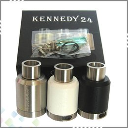 Wholesale Kennedy RDA Vaporizer Rebuildable Dripping Atomzier Clone mm Outer Diameter Closed Deck Airflow Control fit Mod DHL Free