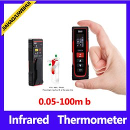 100minfrared distance meter infrared tape measure rangefinder laser with retail packing 10pcs lot