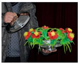New Fire to Flower Pan(with red flower) - Magic trick,flower magic,stage,gimmick,accessories,comedy