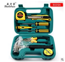 Wholesale 8009A Hot metal tools with a hammer tool vehicle combination tool kit gift Tool Boxes Vehicle Tools