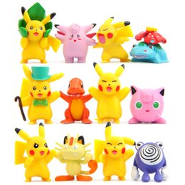 Wholesale 12pcs of a package Cute view Pikachu doll cm cm furnishing articles doll ABS Action Figure Toys