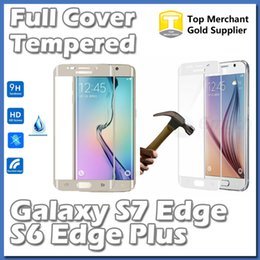 Wholesale For S7 Edge S6 S7 Plus Full Cover D Arc Curved mm Tempered Glass Screen Protector Shield Colors With Retail Package