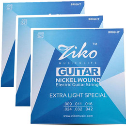 3sets lot .009-.042 strings ZIKO Electric Guitar strings guitar parts musical instruments Accessories