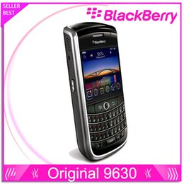 Wholsale Original BlackBerry Tour 9630 GPS cellphone 3.2MP JAVA QWERTY Keyboard MP3 single core Black Unlocked Mobile Phone